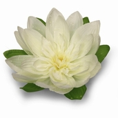 Floating Water Lotus 7 inch - White 12 pack