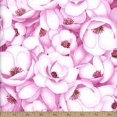Flora Cotton Fabric - Pink FLORA-C1072-PINK