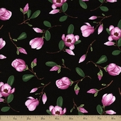 Flora Cotton Fabric - Pink FLORA-C1075-PINK