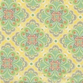 Flora Cotton Fabric - Sunflower Paisley