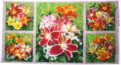 Floral Fascination Cotton Fabric - Craft Panel
