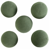 Floral Foam Green Spheres 4 1/2inch (for fresh flowers) 5 pack