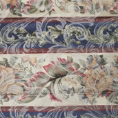 Floral Stripe Upholstery Fabric - 55 in. - Multi Color - Clearance