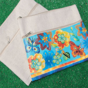 Floral Zippered Pouch