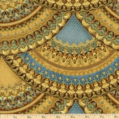 Florentine 3 Cotton Fabric - Earth APTM-11516-169 EARTH