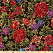 Florentine 3 Cotton Fabric - Jewel APTM-11512-201 JEWEL