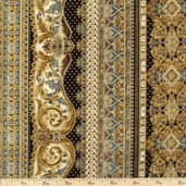Florentine 3 Cotton Fabric - Pewter APTM-11513-183 PEWTER