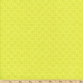 Flori-Logic Grid Cotton Fabric - Green