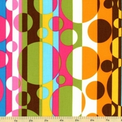 Flower Child Cotton Fabric - Creamsicle AIT-8562-152 - Clearance