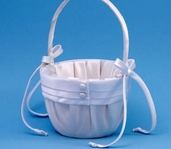 Flower Girl Basket - White