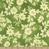 Flower Shop Cotton Fabric - Green Floral