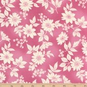 Flower Shop Cotton Fabric - Pink Floral - CLEARANCE