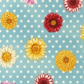 Flower Shop Cotton Fabric - Vintage - CLEARANCE