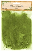 Fluffy Feathers in Light Olive - Pkg of 3