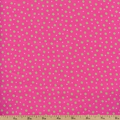 Fluffy Jungle Dots Flannel Cotton Fabric - Pink R38-8516-0214 - Clearance