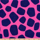 Fluffy Jungle Flannel Cotton Fabric - Pink R38-8512-0210 - CLEARANCE