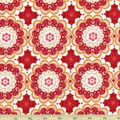Flutter Doily C3132 Cotton Fabric - Red