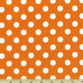 Flutter Dot Cotton Fabric - Orange C3135