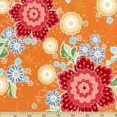 Flutter Main Cotton Fabric - Orange C3130