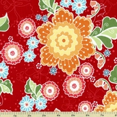 Flutter Main Cotton Fabric - Red C3130