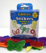Foamies Glitter Stickers - Flowers and Bugs