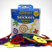 Foamies Glitter Stickers - Geometric Shapes