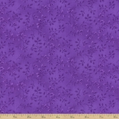Folio Basics Vines Cotton Fabric - Purple