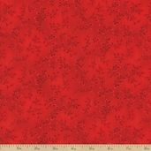 Folio Basics Vines Cotton Fabric - Red