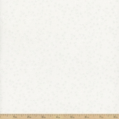 Folio Basics Vines Cotton Fabric - White