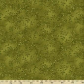 Folio Cotton Fabric - Floral Texture - Lime Green 7755-62