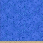 Folio Floral Texture Cotton Fabric - Bright Blue