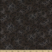 Folio Floral Texture Cotton Fabric - Charcoal
