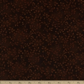 Folio Floral Texture Cotton Fabric - Dark Brown