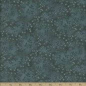 Folio Floral Texture Cotton Fabric - Dark Teal