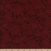 Folio Floral Texture Cotton Fabric - Maroon