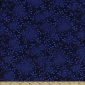 Folio Floral Texture Cotton Fabric - Royal