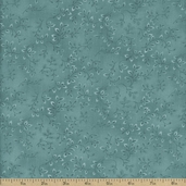 Folio Floral Texture Cotton Fabric - Teal