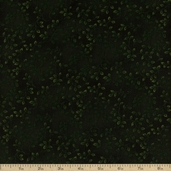 Foliol Floral Texture Cotton Fabric - Dark Green
