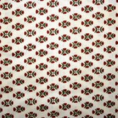Folk Art Village Fabric - Cream - CLEARANCE