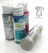 FolkArt Fabric Paint Metallic Silver Sterling