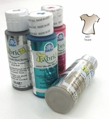 FolkArt Fabric Paint Metallic Taupe - Clearance