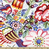 Folklorico Talavera Garden Cotton Fabric Multi - DE#7723A