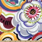Folklorico Talavera Swirl Cotton Fabric - Multi DE#7668AR