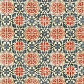 Forget Me Not II Cotton Fabric - Crimson