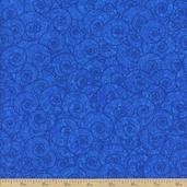 Four Seasons Swirl Cotton Fabric - Blue