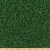 Four Seasons Swirl Cotton Fabric - Green