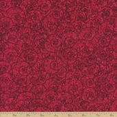 Four Seasons Swirl Cotton Fabric - Red