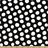 Fowl Play Dots Cotton Fabric - Black