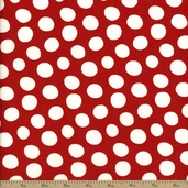 Fowl Play Dots Cotton Fabric - Red