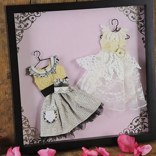 Framed Paper Dresses